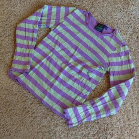 Mini Boden Other - Mini Boden Purple & Green Striped Shirt
